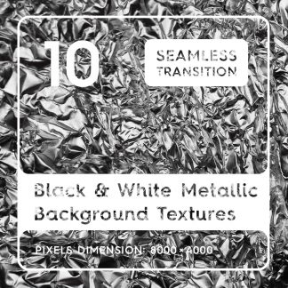 10 Black & White Metallic Textures