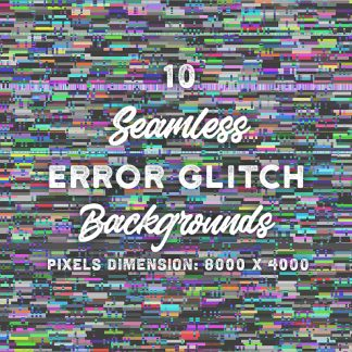 10 Seamless Error Glitch Backgrounds