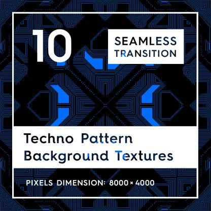 10 Techno Pattern Backgrounds