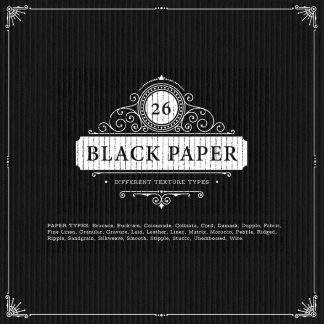26 Black Paper Textures