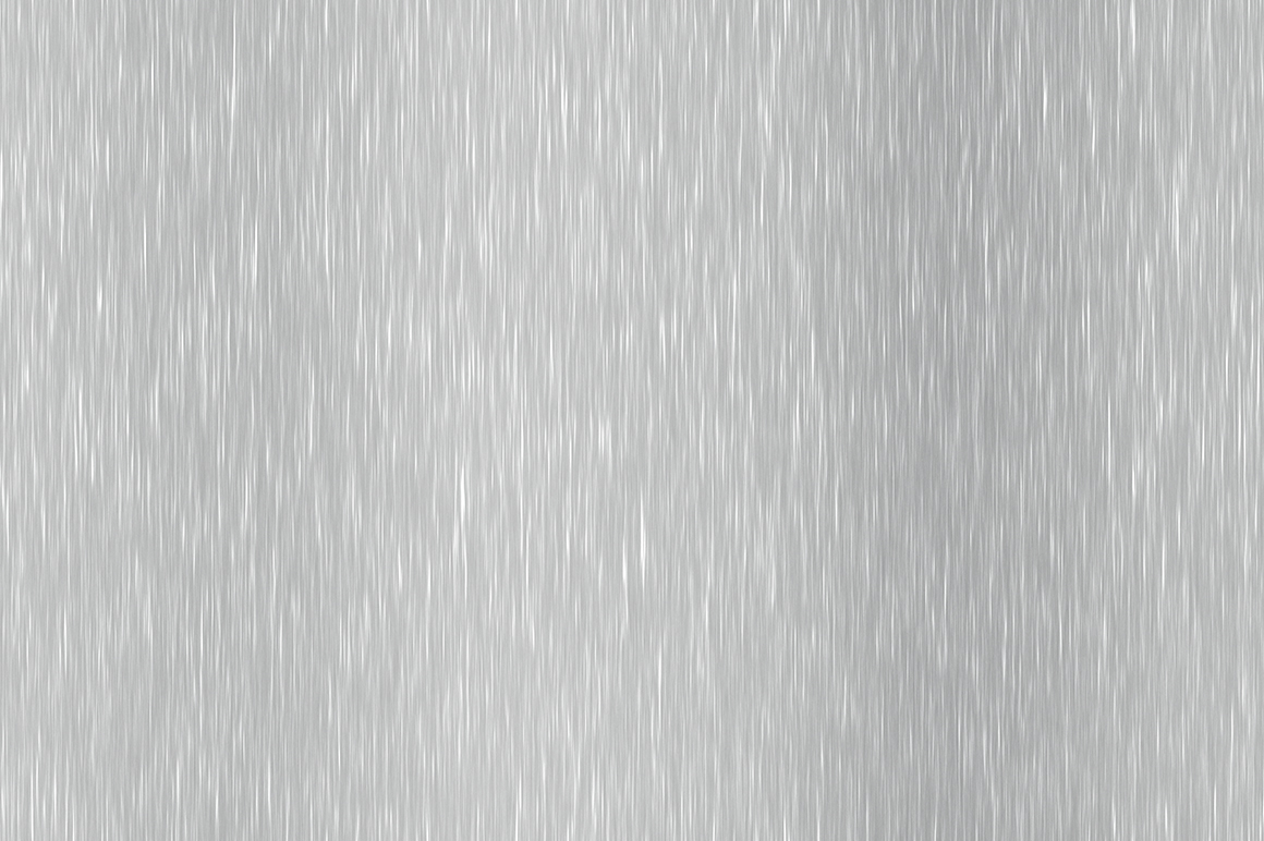 Aluminum shiny polished seamless sheet textures. Stainless brushed metal background material. Vertical across direction.