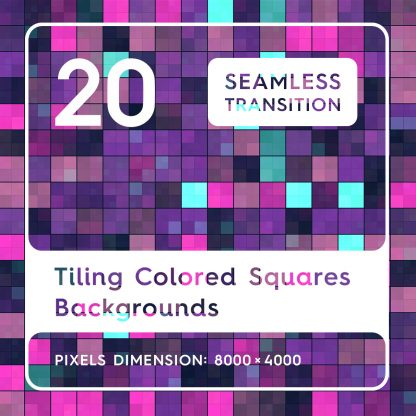 20 Tiling Colored Squares Backgrounds