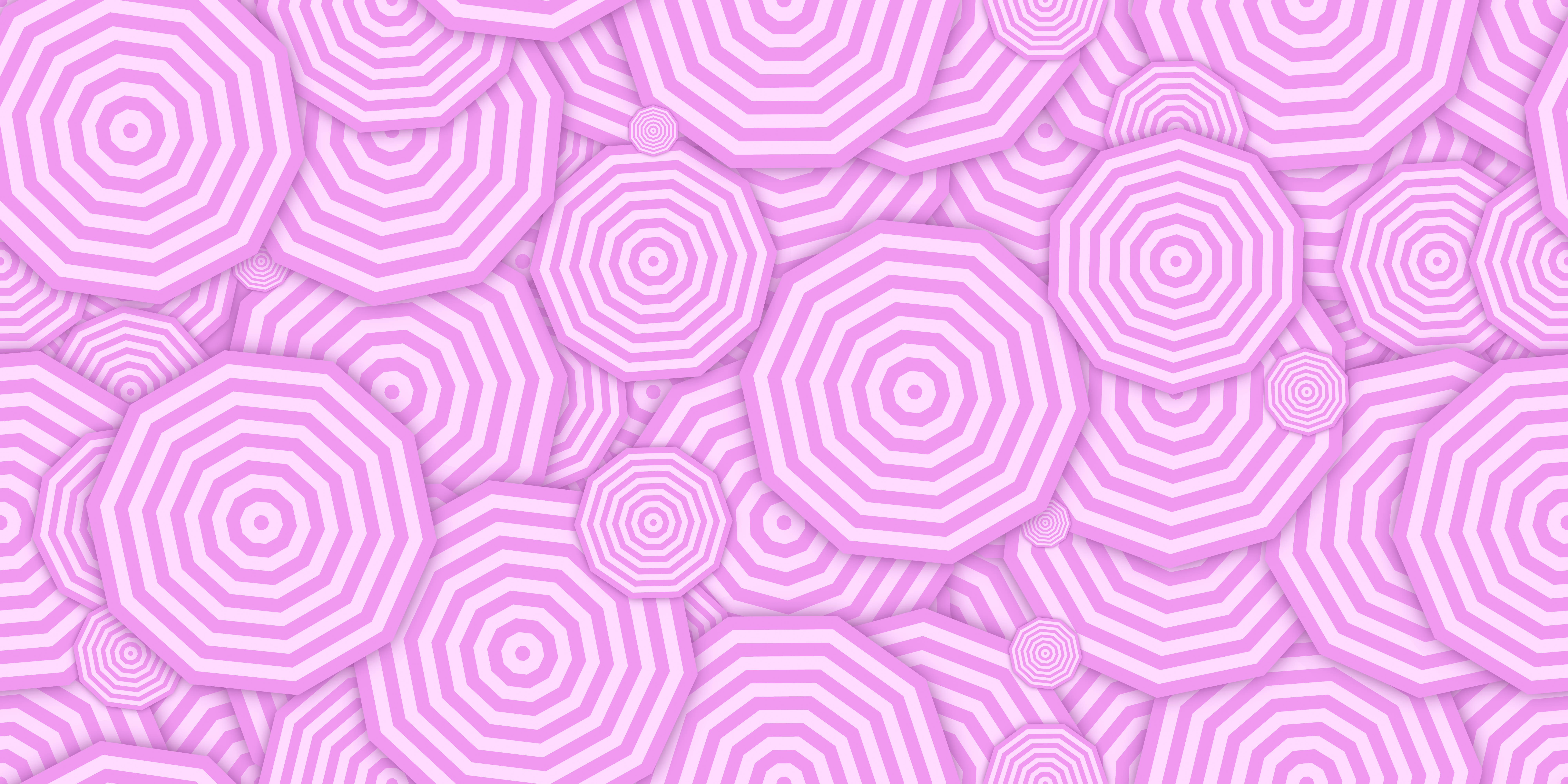 Pink concentric polygons background