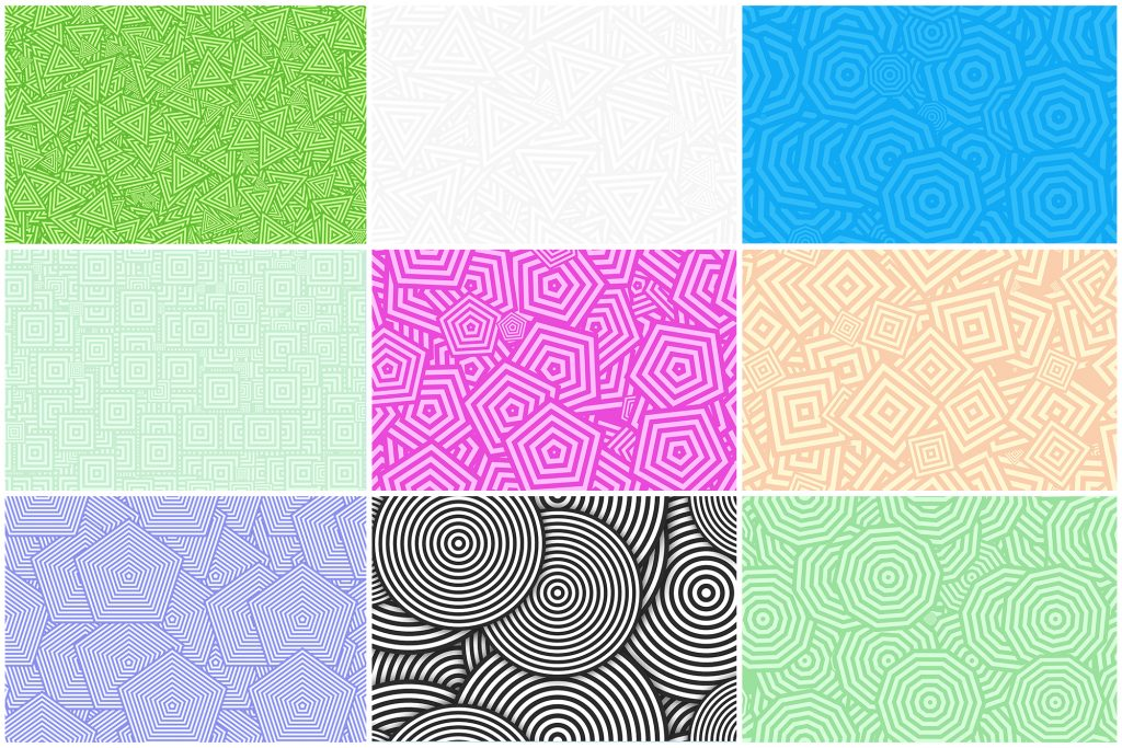 Сoncentric Polygons Backgrounds Preview Set