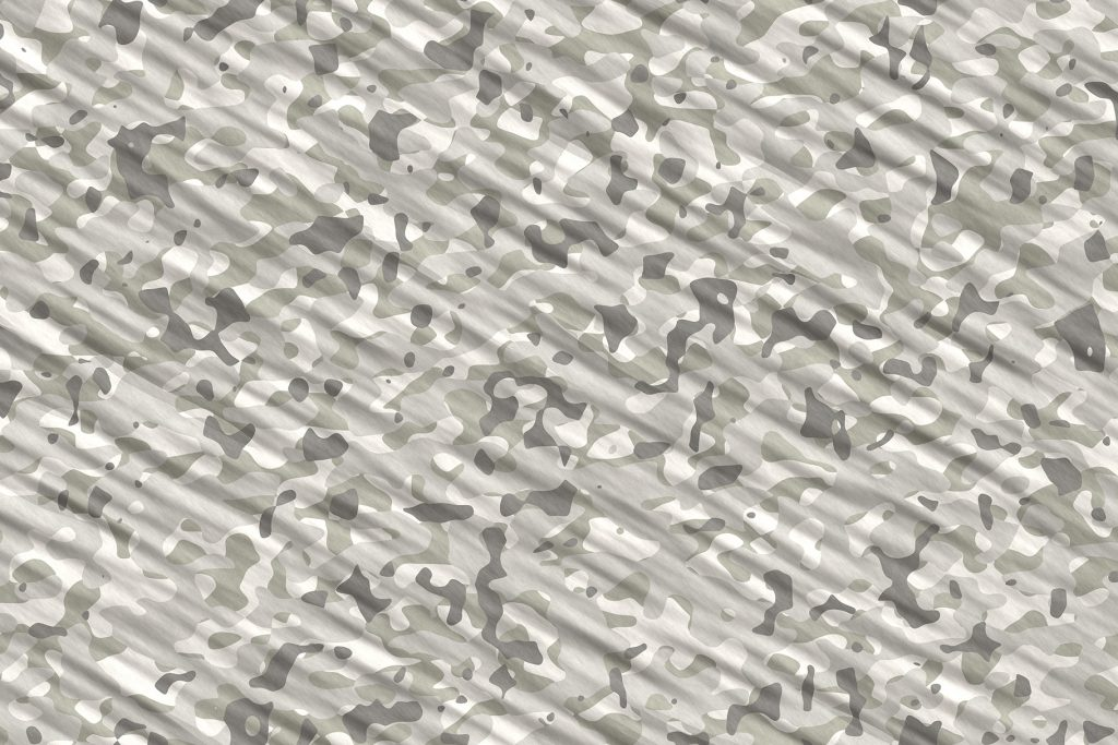 Gray White Camouflage Background. Military Camo Clothing Texture. Seamless Combat Uniform.