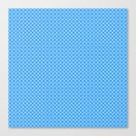 Blue Pink Cell Checks Canvas Print