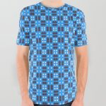 Blue Violet Cell Checks All Over Graphic Tee