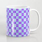 Blue Violet Cell Checks Coffee Mug