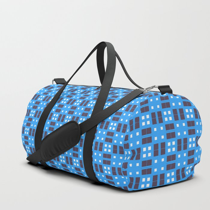 Blue Violet Cell Checks Duffle Bag