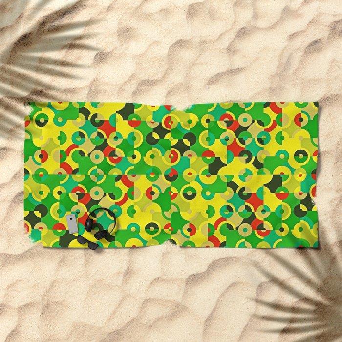 Circle Quarters Beach Towel