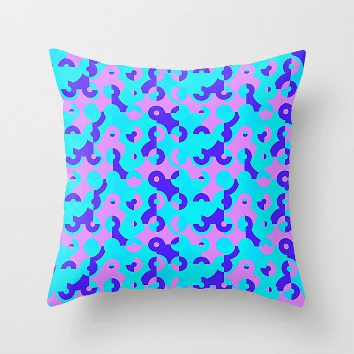 Circle Quarters Throw Pillow