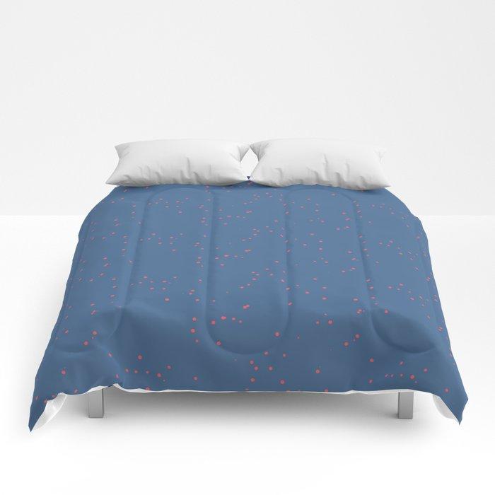 Cobalt Light Pink Shambolic Bubbles Comforters