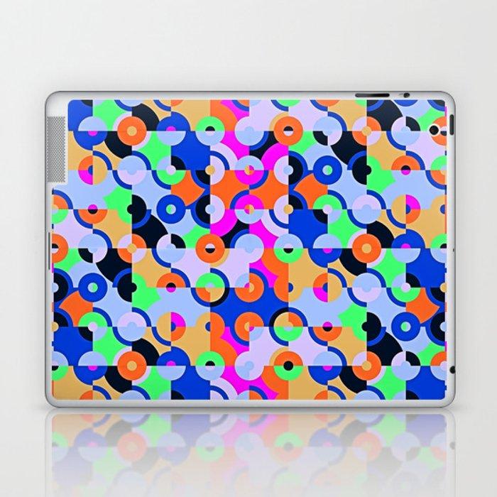 Colored Circle Quarters Laptop & iPad Skin