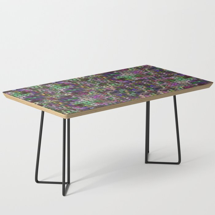 Colored Old Painted Wood Cubes Coffee Table