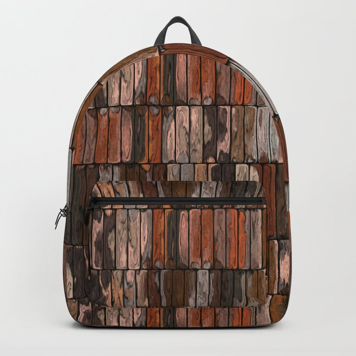 Colored Old Painted Wood Planks Backpack