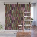 Colored Old Painted Wood Planks Wall Mural