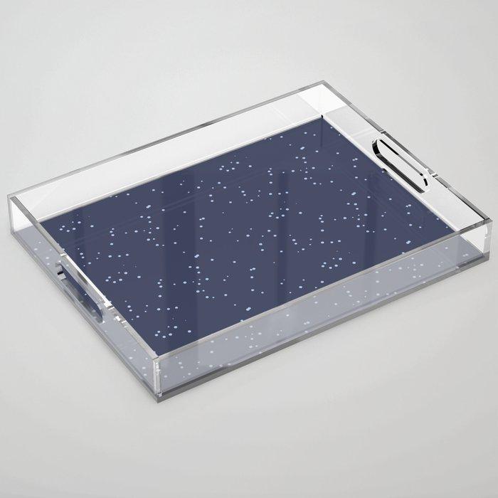 Dark Gray Blue Shambolic Bubbles Acrylic Tray