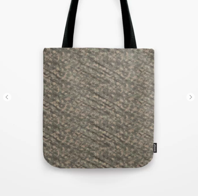 Dark Green Army Camouflage Tote Bag