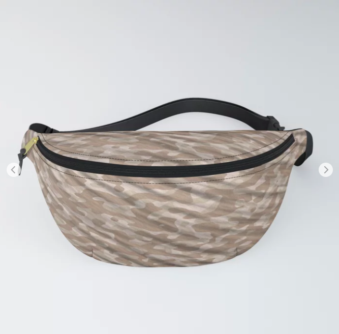 Desert Army Camouflage Fanny Pack