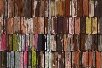 10 Old Painted Planks Textures