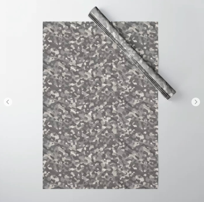 Gray Army Camouflage Wrapping Paper