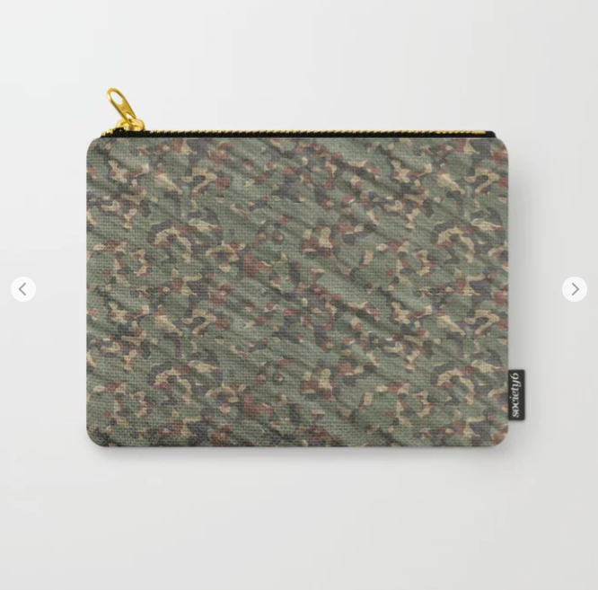 Green Army Camouflage Carry-All Pouch