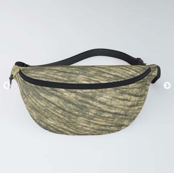 Green Army Camouflage Fanny Pack