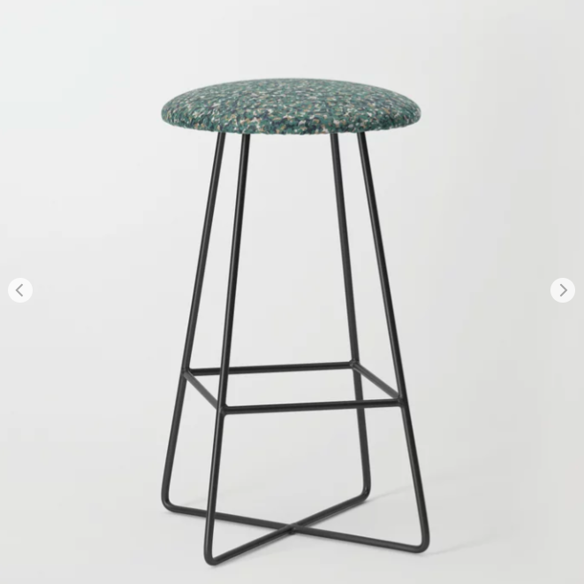Green Beige Army Camouflage Bar Stool