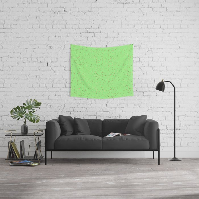 Green Lime Shambolic Bubbles Tapestries