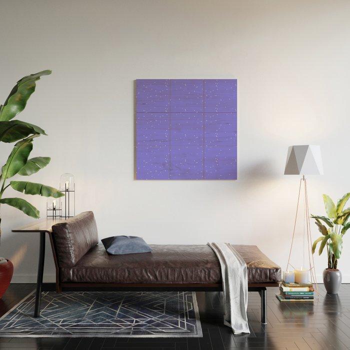 Lavender Blue Shambolic Bubbles Wood Wall Art
