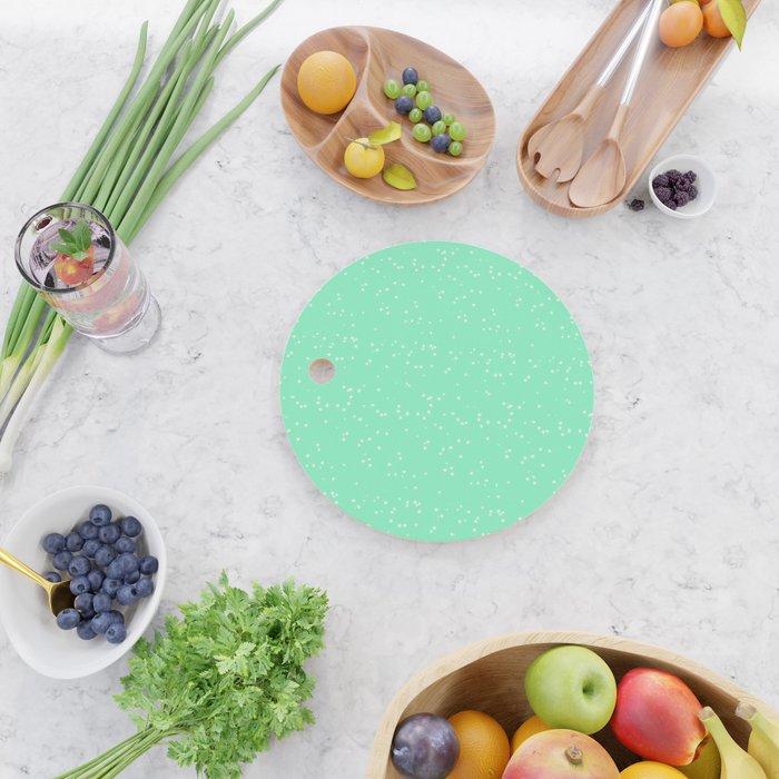 Light Green Shambolic Bubbles Cutting Board