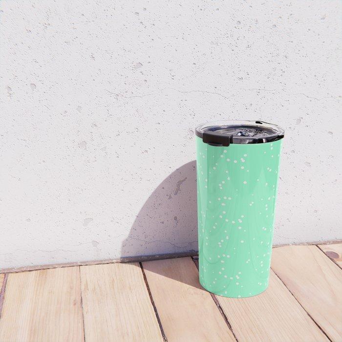 Light Green Shambolic Bubbles Travel Mug