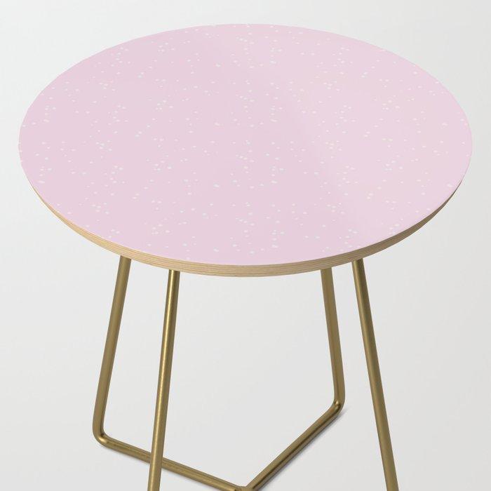 Light Pink Shambolic Bubbles Side Table