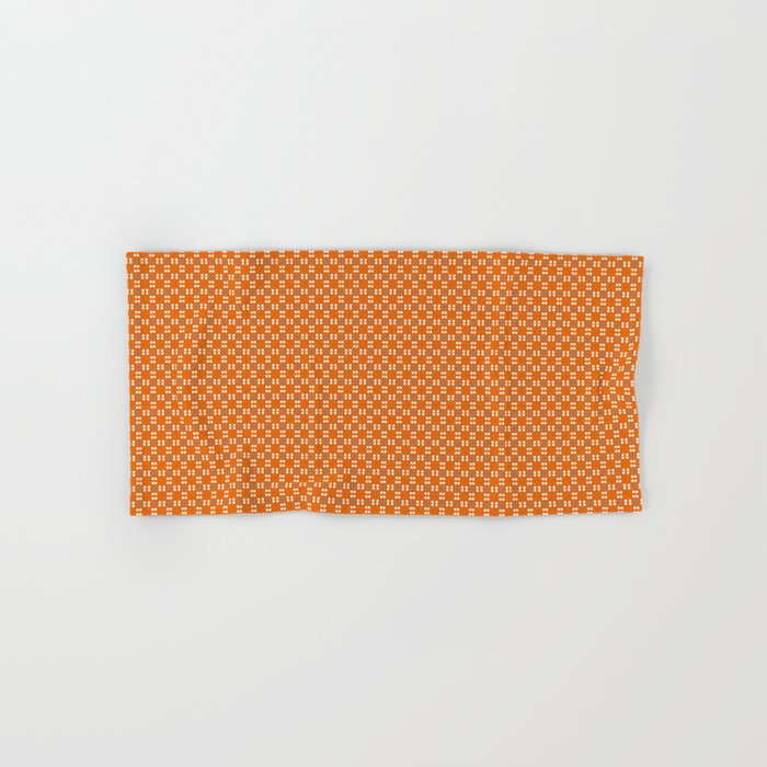 Orange Yellow Cell Checks Hand & Bath Towel