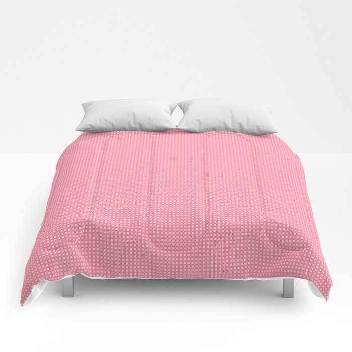 Pink Cell Checks Comforters