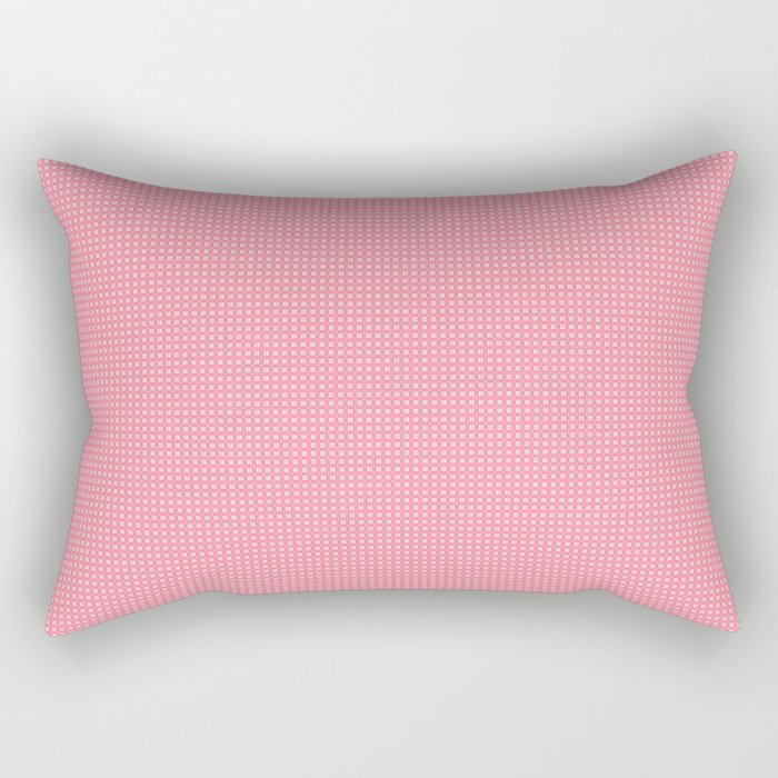 Pink Cell Checks Rectangular Pillow