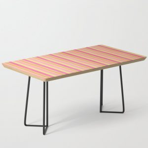 Pink Yellow Scrapbook Sherbert Coffee Table