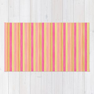 Pink Yellow Scrapbook Sherbert Rug