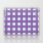 Purple Blue Cell Checks Laptop & iPad Skin