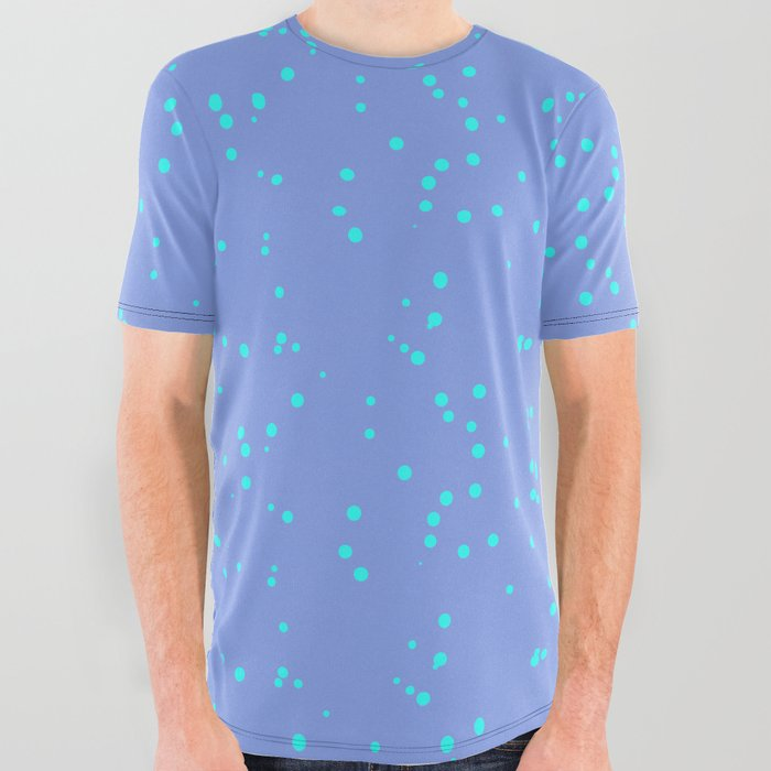 Purple Turquoise Shambolic Bubbles All Over Graphic Tee