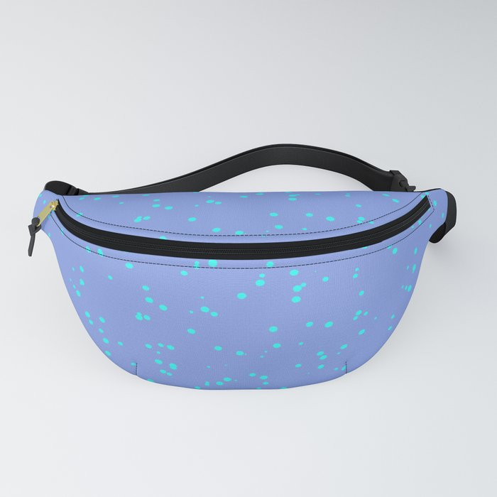 Purple Turquoise Shambolic Bubbles Fanny Pack