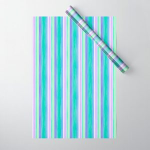 Purple Yellow Turquoise Scrapbook Sherbert Wrapping Paper