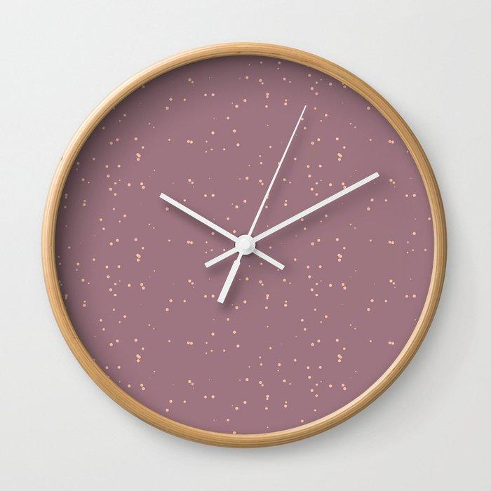 Raspberry Shambolic Bubbles Wall Clock