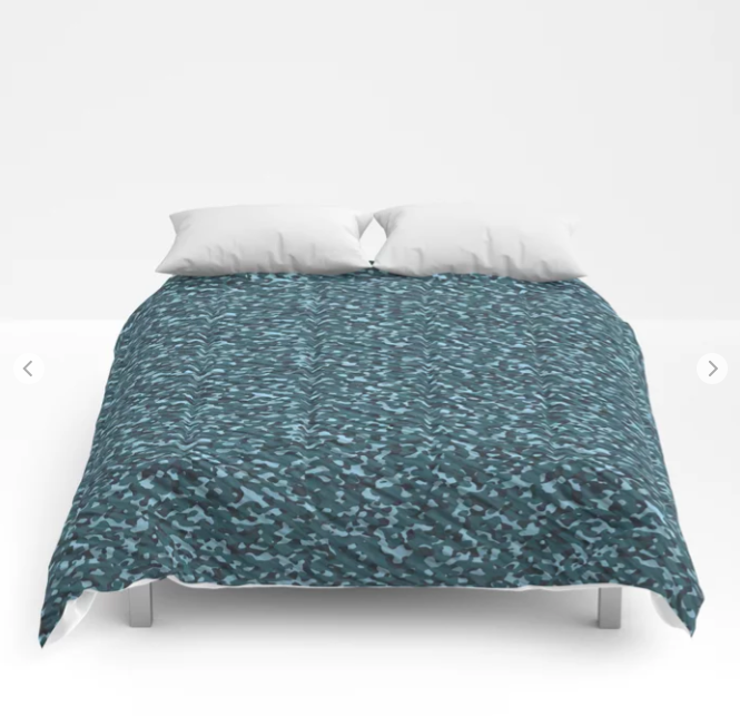Sea Green Blue Army Camouflage Comforters