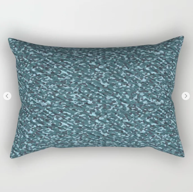 Sea Green Blue Army Camouflage Rectangular PillowSea Green Blue Army Camouflage Rectangular Pillow
