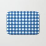 Sky Blue Cell Checks Bath Mat