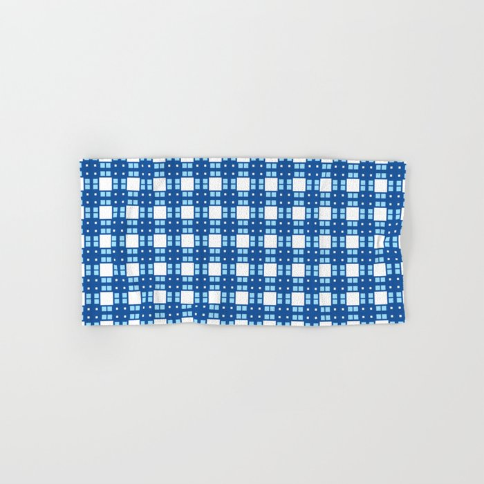 Sky Blue Cell Checks Hand & Bath Towel