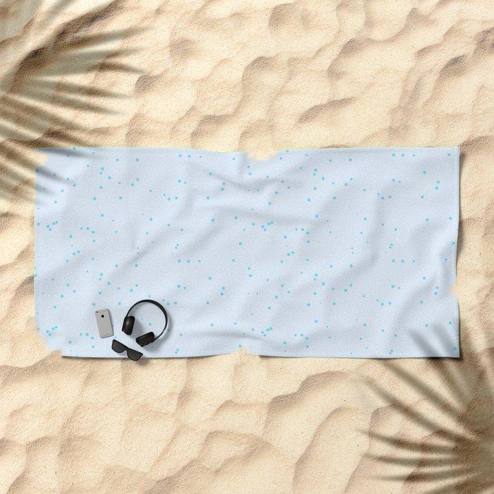 Sky Blue Shambolic Bubbles Beach Towels