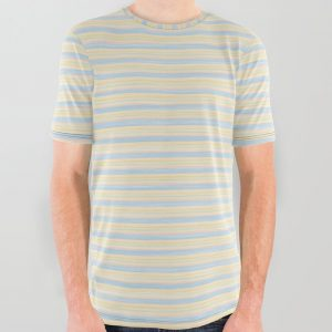 Striped Yellow Blue Scrapbook Sherbert All Over Graphic Tee