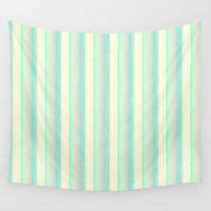 Turquoise Light Yellow Scrapbook Sherbert Wall Tapestry